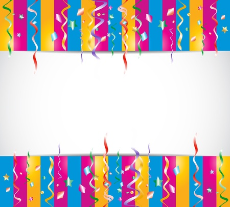 colorful birthday confetti background Vector