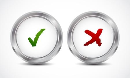 coincidir: sí no comprobar botones marca