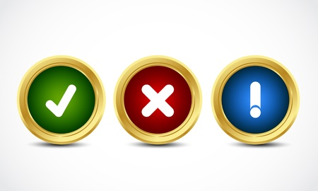 brilliant security buttons Vector