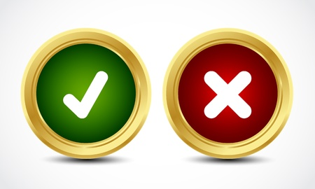 check marks: brilliant yes and no check marks