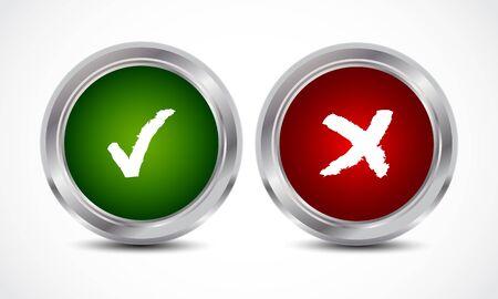 button check marks Stock Vector - 16024444