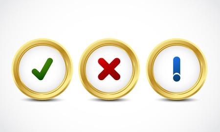 security button set Stock Vector - 16024380