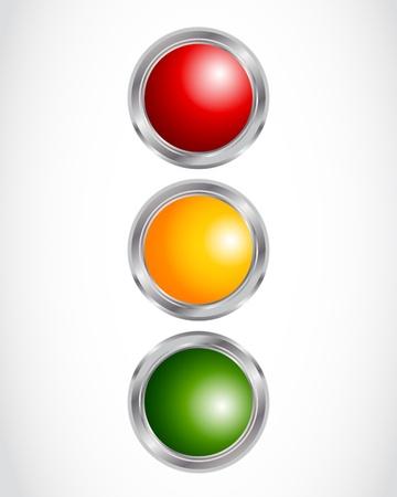 botones de luz de tráfico concepto Ilustración de vector