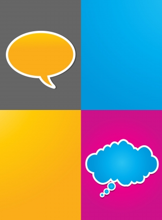 abstract colorful conversation bubbles Stock Vector - 16024136