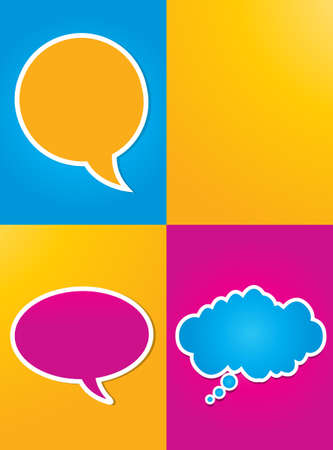 colorful speech bubbles poster Stock Vector - 16024166