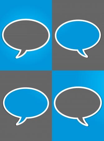 discourse: social media group concept Illustration