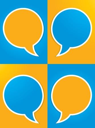 conversation icon: social media conversation design Illustration
