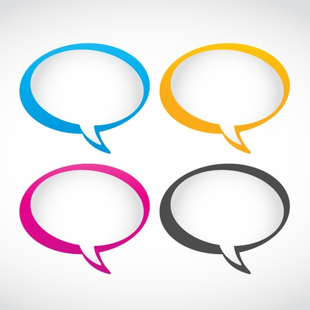 thought and speech bubbles set Vector