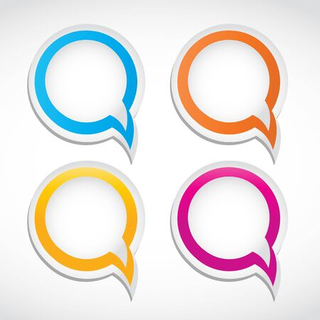 abstract colorful dialog bubbles Vector