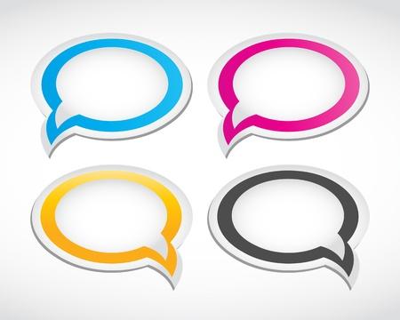 chat box: dialog speech bubbles set Illustration