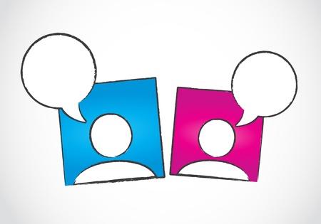social media conversation concept Vector