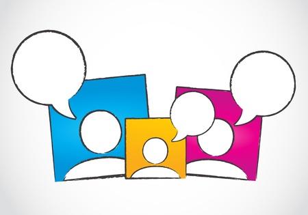 social media dialog, speech bubbles Illustration