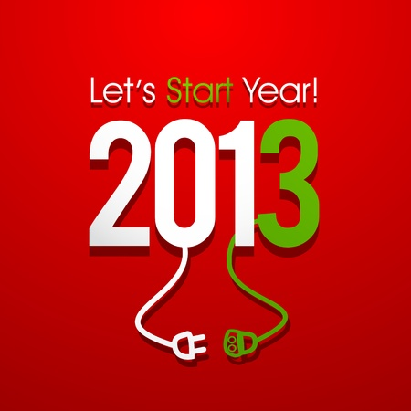 2013 New Year Concept Stock Vector - 16189448