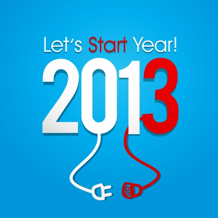New Year 2013 Concept Stock Vector - 16189447