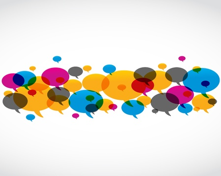 blog design: abstract colorful speech bubble design