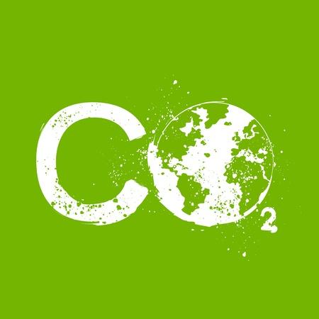 carbondioxide: co2 grunge illustration