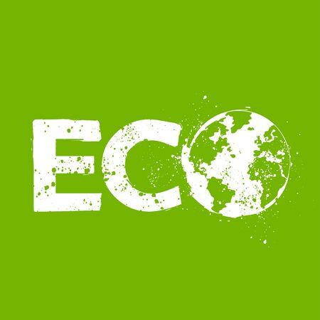grunge eco symbol Vector