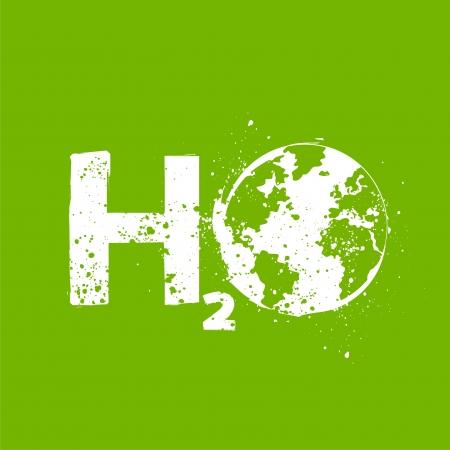 water molecule: grunge agua h2o