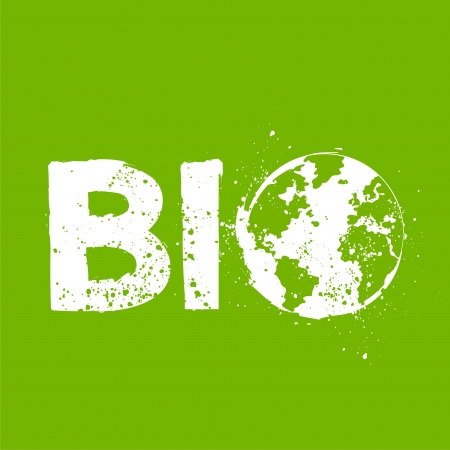 go green logo: Bio environment concept illustration Illustration