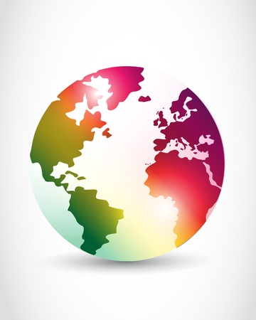 world news: abstract colorful world design Illustration