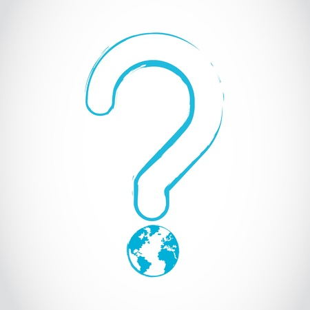 planet earth question mark concept Stock Vector - 16307494