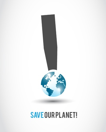 stop global warming: world globe security sign