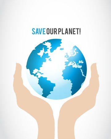 Save Our Planet Concept Illustration