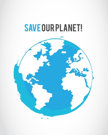 grunge save the planet poster Stock Vector - 16307496