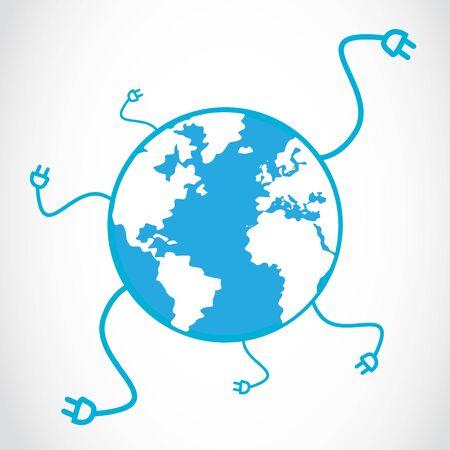 global social connection energy Stock Vector - 16307501