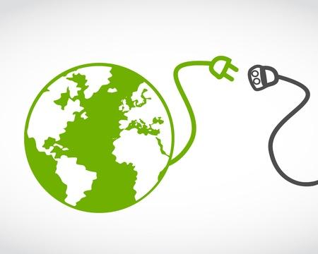 eco energy: global eco energy concept Illustration