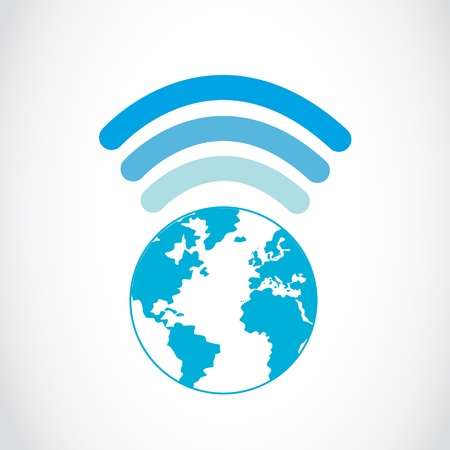 global wifi connections Vector