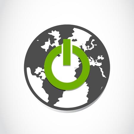 planet earth green power Stock Vector - 16307504