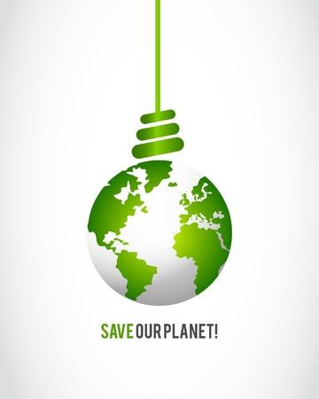 ecologic: mundo verde concepto idea Vectores