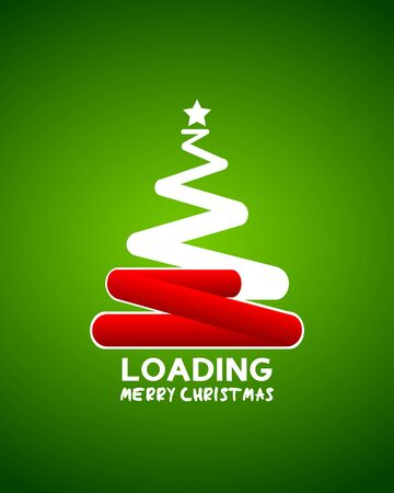 christmas tree web loader waiting concept Vector
