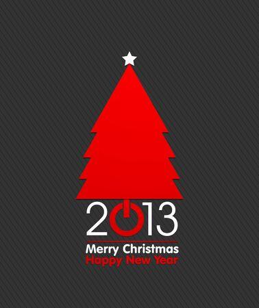 2013 Merry Christmas Tree Concept Stock Vector - 16431028
