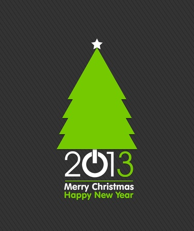 Merry Christmas Tree Card Design Stock Vector - 16431026