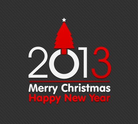 2013 christmas card illustration Vector Illustration