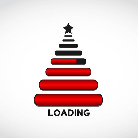 starting a business: christmas tree made from web loading bars Illustration