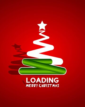 waiting for christmass concept illustration Vector