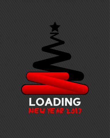 2013 christmas tree loading concept Stock Vector - 16430985