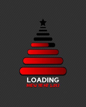 christmas tree loading illustration design Stock Vector - 16431004