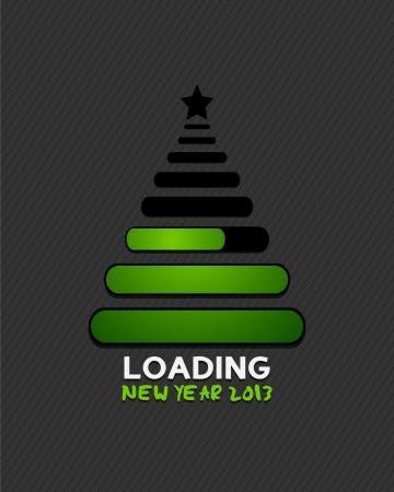 uploading: 2013 albero di natale di avanzamento del caricamento