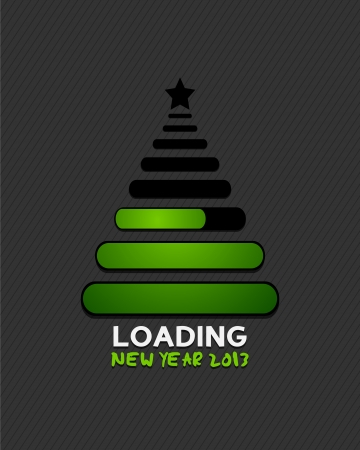 2013 christmas tree loading progress Vector