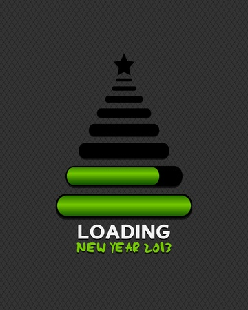 2013 christmas tree made from internet loading bars Vector