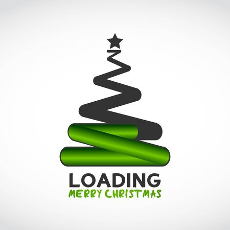 christmas tree made from loading symbol Vector