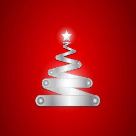 Brilliant shiny christmas tree Stock Photo - 16431048