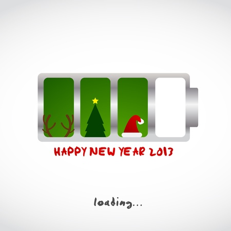 christmas and new Year greeting card design for web Vector