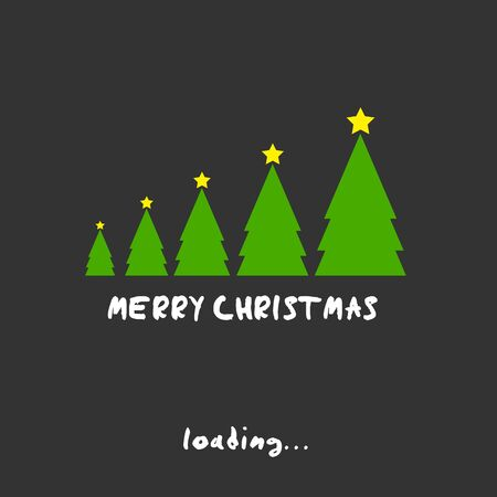 merry christmas trees concept illustration Vector