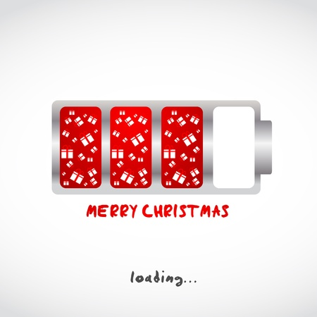 turn of the year: merry christmas gifts design illustration