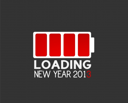 2013 christmas web loading concept Vector